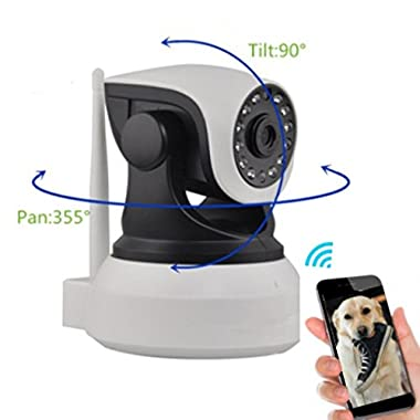 Camera Monitor - Away From Home Dog Monitor - Dog Cameras With Phone App - Monitor Your Pet From Anywhere Any Time Pan Tilt The Camera From Your Smart Phone Interactive Pet Monitoring For Dogs Cats