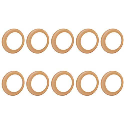 Stummschaltpuffer Luftpumpe Zylinder Gummiring verschleißfest 68 x 48 x 1 mm Gummi-Isolierringe Lederbecher Pufferring für Pumpe