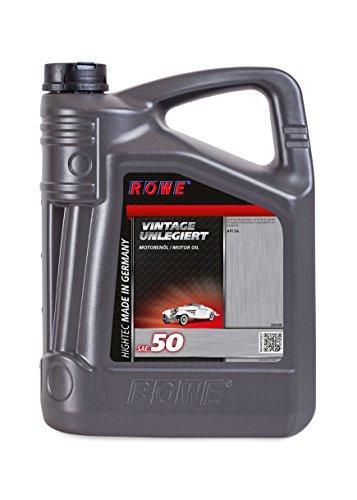 ROWE - 5 Liter HIGHTEC VINTAGE SAE 50 UNLEGIERT Motorenöl - für Oldtimer und Youngtimer - mineralisch