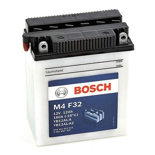 0092M4F320 BATTERIA BOSCH YB12AL-A2 CON ACIDO YB12ALA2 MOTO SCOOTER QUAD CROSS