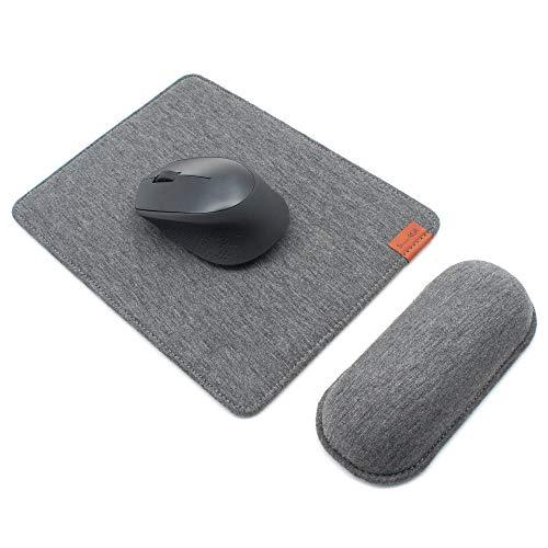 SenseAGE Ingrandisci Mouse Pad e Set di poggiapolsi del Mouse, Tappetino ergonomico per Mouse con Base Antiscivolo e poggiapolsi per Tastiera, Comodo per la digitazione e Sollievo dal Dolore, Grigio