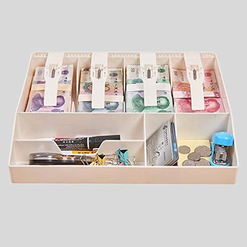 電卓雇用防水お金の入ったキャッシュボックス BAGEスーパーマーケットレジボックス引き出しタイプレジ係トレイ キャッシュセーフボックス (Color : B)