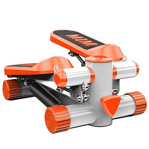 XXMM Mini Up-Down Stepper, Gewichtsverlust Maschine, Start Mute Hydraulische Bergsteigen Stepper, Multifunktions-LCD-Display und Zeichnen Seil Fahrrad Sportgerät, Grün (Color : Orange)