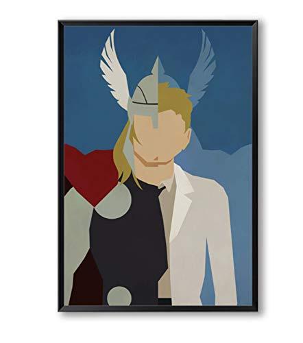 Élégant Poésie Super-Héros Avenger Batman Iron Man Toile Peinture Impression Affiche Photo Mur Peinture Décoratio 30X45 Cm Pas De Cadre A4