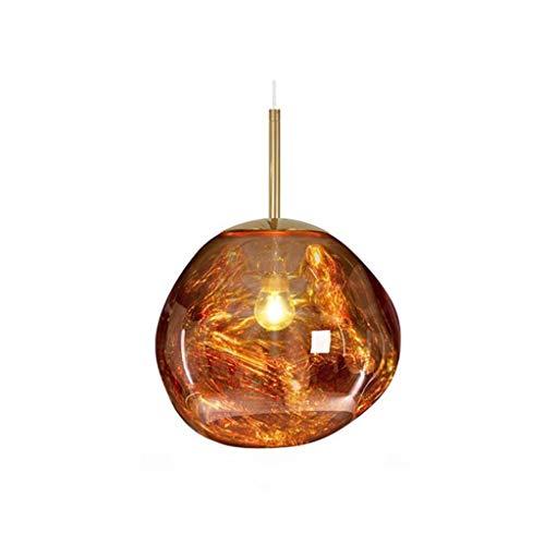 Lámpara colgante Lámpara de techo Lámpara pendiente de la cocina moderna sala de estar cubierta de forma irregular colgante de cristal de la lámpara de luz (Color : Gold)