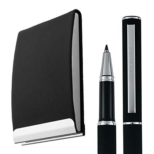 Pierre Cardin Concorde - Estuche para tarjetas de crédito (con bolígrafo de tinta líquida, con lápices de gel para tarjetas de visita)