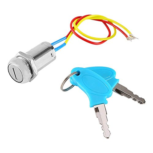 2 Wires Ignition Switch Key Starter Switch with 2 Keys On-Off for Electric Scooter ATV Moped Go Kart