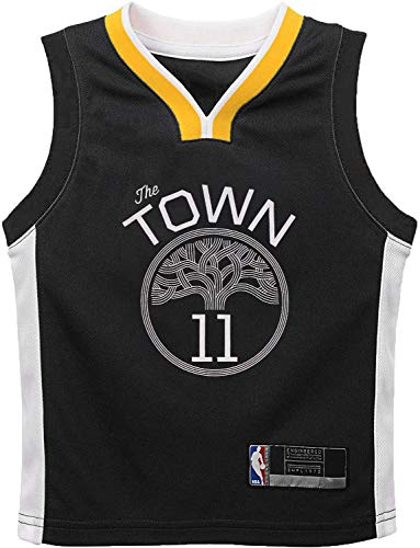 NBA Kids 4-7 Official Name and Number Replica Home Alternate Road Player Jersey (5/6, Klay Thompson Golden State Warriors Gray Statement Edition)