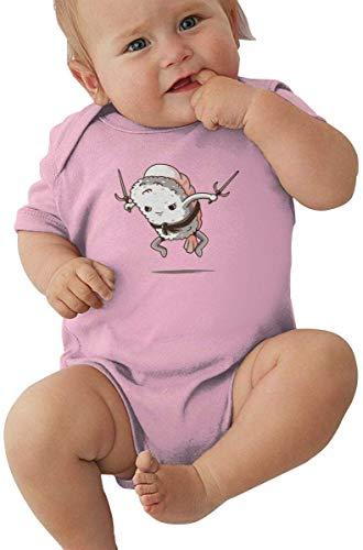 WlQshop Body Bébé Garçon Fille, Baby Boys Girls Unisex Romper Bodysuit Samurai-Sushi-Lover-Friends Infant Kawaii Jumpsuit Outfit 0-2T Kids