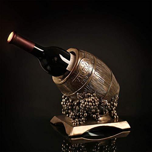 NYDZ Weinregal Weinfass Statue Weinständer Resin Handwerk Geschenke Dekorationen