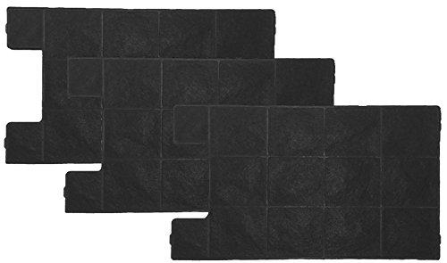 Keenberk - Aktivfilter für Amica KF 17149 - Kohlefilter für KH 17178, 17179 E - Zubehör für Dunstabzugshauben - Schwarz - Super-Sparset mit 3 Stück