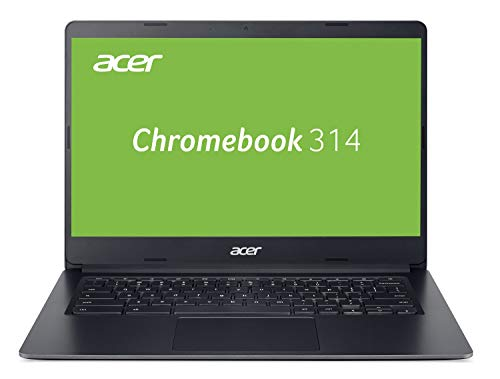 Acer Chromebook 314 (14 Zoll Full-HD IPS Touchscreen matt, 19,7mm flach, extrem lange Akkulaufzeit, schnelles WLAN, MicroSD Slot, Google Chrome OS) schwarz