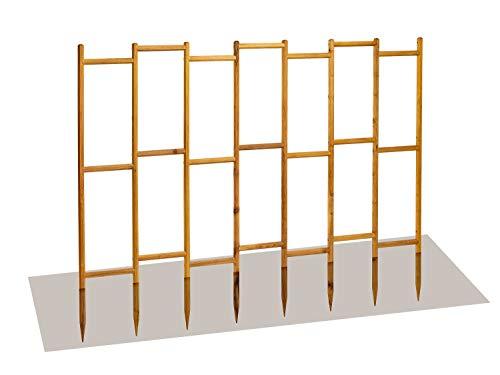 robinia-pro Rankgitter aus Robinienholz - Breite 192 cm, Höhe 117 cm (Robinie, Holz) Rankgerüst, Rankhilfe, Spalier, Rosengitter (Raster 27x54 cm, niedrig - mittelhoch)