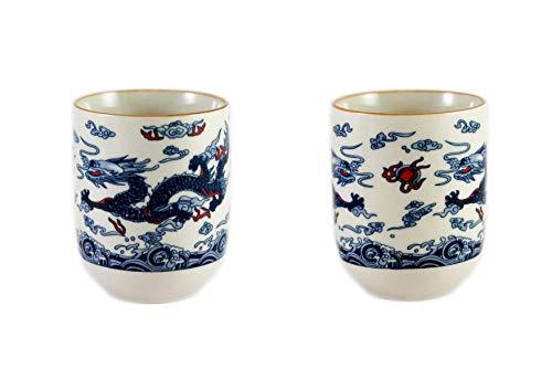Dragón Diseño Chino Té Taza - 2X Azul