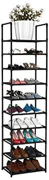 fiducial home 10 Tiers Shoe Rack 20-25 Pairs Sturdy Shoe Shelf