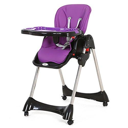 HGNbb La Trona Plegable de múltiples Funciones del bebé, Portable púrpura Puede...