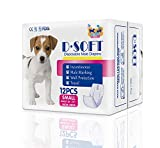 Dsoft Pet Disposable Male Wrap Dog Disposable Diaper,12Pcs,XS-M (S)