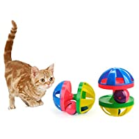 Funny Pet Cat Toy Hit Color Ball Double Bells Ball Vocal Cat Toy Alarm Ball Bell Squeak Toys For Dogs And Cats Products