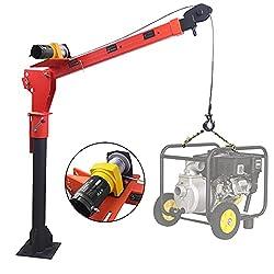 cheap Folding RUGCE LWINGCH 0.5 t loading crane, 12 V cordless winch (3500 lb), painted …