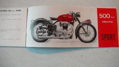 Prospekt/brochure - Moto Gilera Gesamtprogramm: 125 Motoleggera Turismo/Sport, Nettuno 250 ccm Turismo/Sport, Saturno 500 ccm Turismo/Sport, Mercurio Portata Q.LI 15