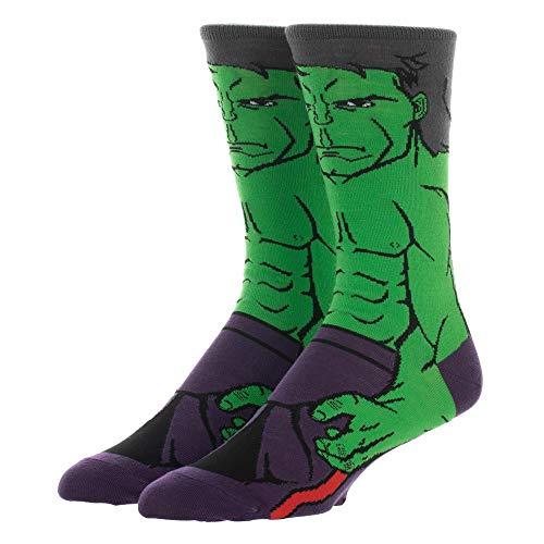 Mens Marvel Hulk Socks 360 Character Marvel Avengers Crew Socks