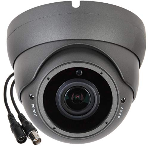 Sinis Security Super Hybrid 5MP 4MP 1080P HD-TVI/CVI/AHD/960H CCTV Surveillance Security Camera Day Night Vision Waterproof Outdoor/Indoor 2.8-12mm Varifocal Lens Metal Dome Video System