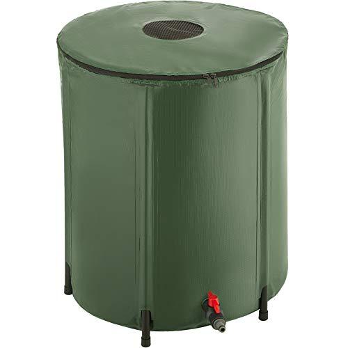 TecTake 800799 Depósito Plegable para Agua de Lluvia, Contenedor Exterior de Agua de Lluvia, Sistema de Recogida de Agua de Lluvia, Barril de Agua de Lluvia con Grifo (200 litros)