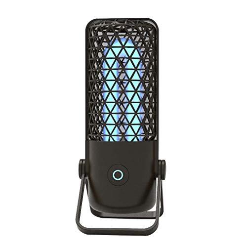 Keimtötende UV-Lampe, Desinfektionslampe, tragbar, für Zuhause, Reisen, Sterilisationslampe, antibakteriell, Schwarz