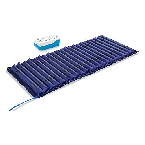 Materasso gonfiabile con trattamento anti-decubito, singolo materasso ad aria anti-pressione, per anziani, coprimaterasso blu