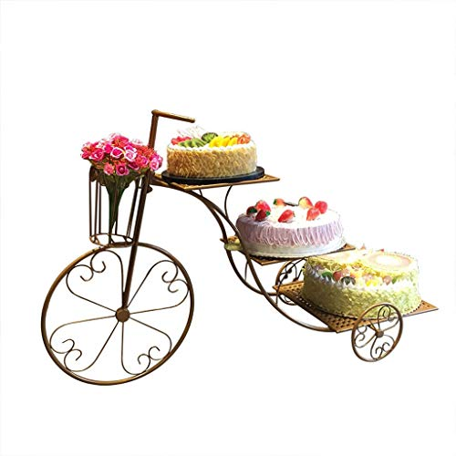 Xuejuanshop Soporte para Postre/Cupcakes de Hierro Forjado, diseño Europeo