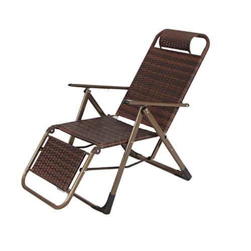 Chaise longue Chaise longue réglable en plein air Chaise longue Chaise longue de détente Chaise longue Sun Lounger Enregistrer l'espace (Couleur : B)