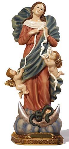 Estatua de la Virgen Desatanudos, de resina, 31,5cm