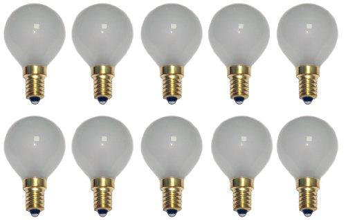 10 x Glühbirne Tropfen 15W E14 MATT Glühlampe 15 Watt Glühbirnen Glühlampen warmweiß dimmbar