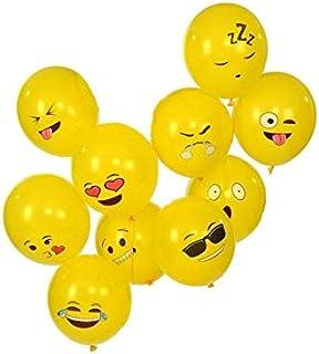 10 قطع من بالونات سمايلي ايموجي للحفلات