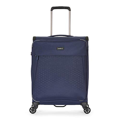 Antler Oxygen, Durable & Expandable Lightweight Soft Shell Suitcase - Colour: Blue, Size: Cabin