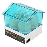 Incubadora de huevos, mini máquina de eclosión automática digital de 4 huevos, bajo nivel de ruido, alta densidad, calentamiento rápido, para gallinas, patos, gansos, pájaros (Enchufe de la UE)