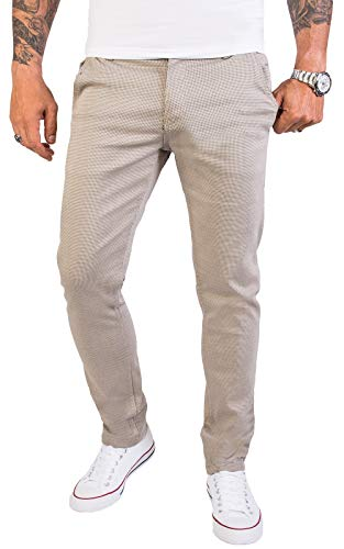 Rock Creek Herren Chino Hose Slim Fit Business Hosen Chinohose Stoffhose Chinos Hosen für Männer Casual Elegante Hose RC-2154 Beige W32 L34