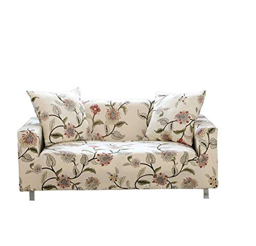 ZZZXX Sofabezug Sofaüberwurf Ecksofa Wasserdicht Microfaser Kratzfest Spannbezug Sofabezug Ohne Armlehnen Kinderidyllische Blütenblattfarbe 1 Sitzer