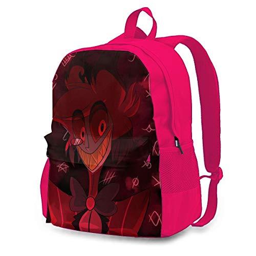 Childrens School Bag Hazbin Hotel R Bookbag Cartoon Rucksack Casual Backpack for Men/Women/Boys Pink 145526443