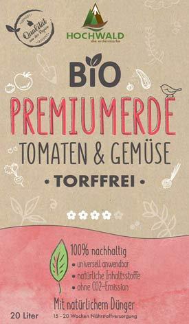 3 Sack /á 20 Liter Hochwald Bio Tomaten /& Gem/üseerde Torffrei-Speziell auf die Anspr/üche zahlreicher Tomaten /& Gem/üsesorten abgestimmt-biologisches Naturprodukt-nat/ürlichem D/ünger mit 15-20 Wochen