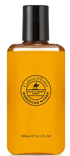 Crabtree & Evelyn Hair and Body Wash for Men, Moroccan Myrrh, 10.1 Fl Oz