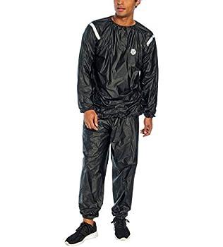 Bally Total Fitness Men s Sauna Suit L/XL  Black