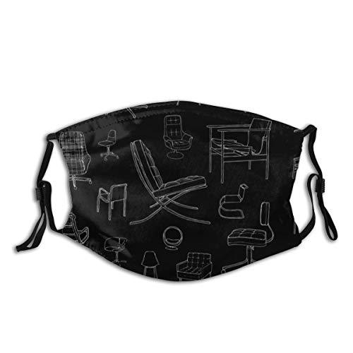 vilico Unisex Mehrzweck-Gesichtsabdeckung, für Stühle, Designer-Möbel, wiederverwendbar, atmungsaktiv, für heiße Sommer, Outdoor, Einkaufen, Sport