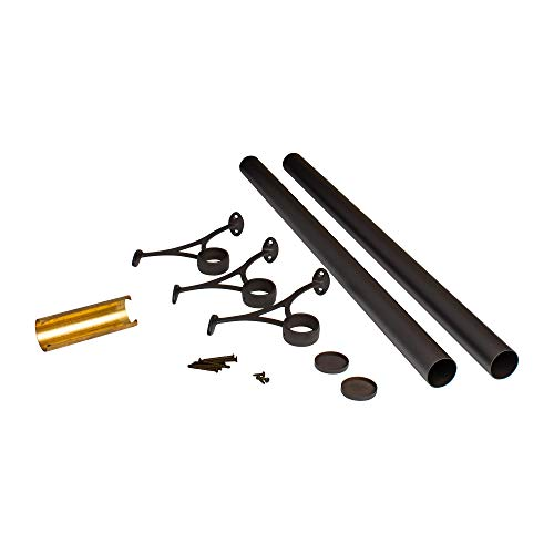 Outwater 6' Bar Foot Rail Kit – Complete Undercounter Mount Hardware and Tubing, Oil Rubbed Bronze Finish