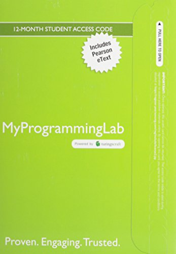 MyLab Programming with Pearson eText--Access Code Card--for Java: An Introduction to Problem Solving and Programming