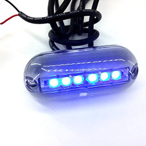 VISLONE 12V 6LED Barco Luces de popa Luz LED para iluminación Natación Pesca Yate Conducción Navegación Marina Submarino Lámparas Impermeables