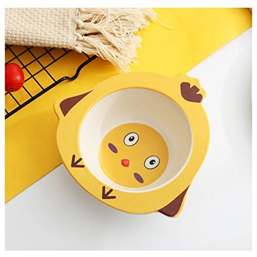 Vajilla para niños de Fibra de bambú Dibujos Animados creativos Cuenco de arroz para niños Comida para bebés de jardín de Infantes en casa Cuenco Resistente a los Golpes Recipiente para Regalo