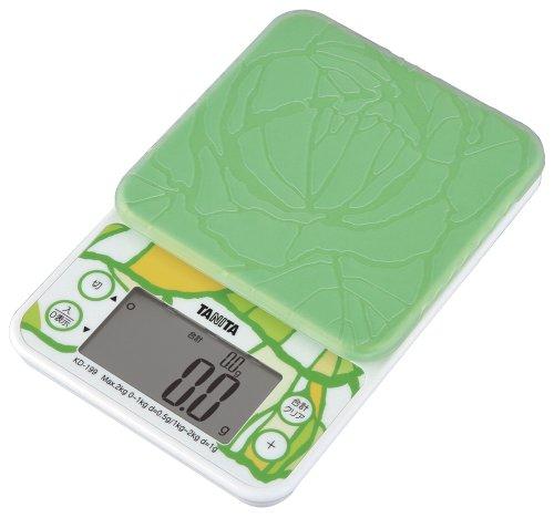 タニタ クッキングスケール キッチン はかり 料理 2kg 0.5g単位 グリーン KD-199 GR 野菜の目標量・使用量 がわかる