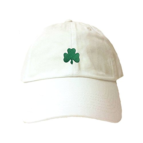 Go All Out Adjustable White Adult Shamrock St. Patrick's Day Embroidered Dad Hat