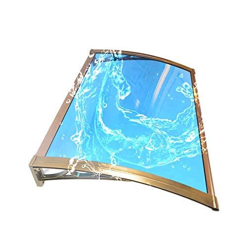 Vordach Türdach, Sonnenschutzabdeckung Im Freien Stumm Regenschutz DIY Markise In Aluminiumlegierungshalter (Color : Blue+Champagne, Size : 80X100CM)